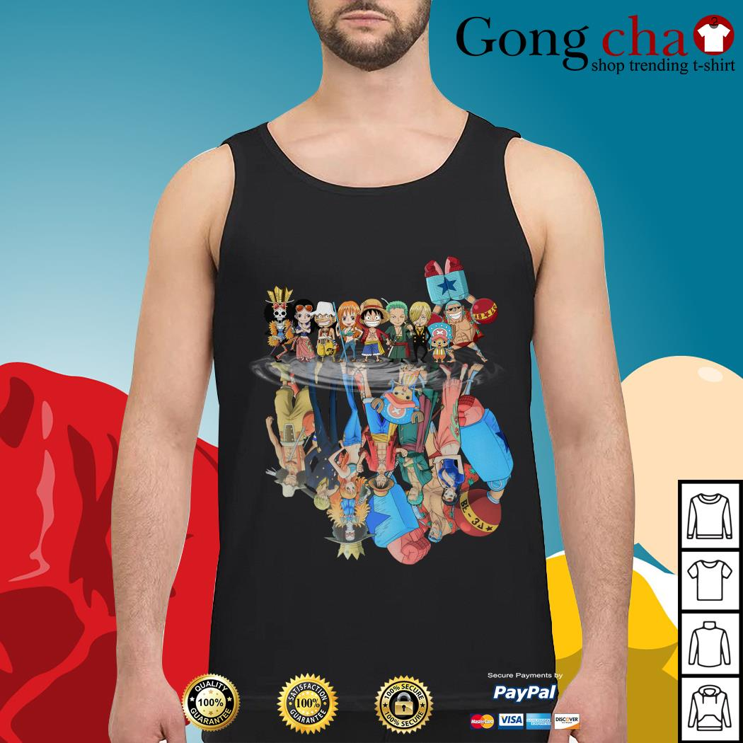 One Piece water reflection mirror Tank top
