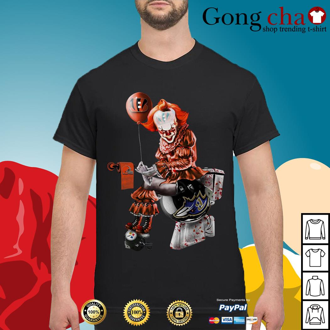 Pennywise Cincinnati Bengals Cleveland Browns Baltimore Ravens Pittsburgh Steelers shirt