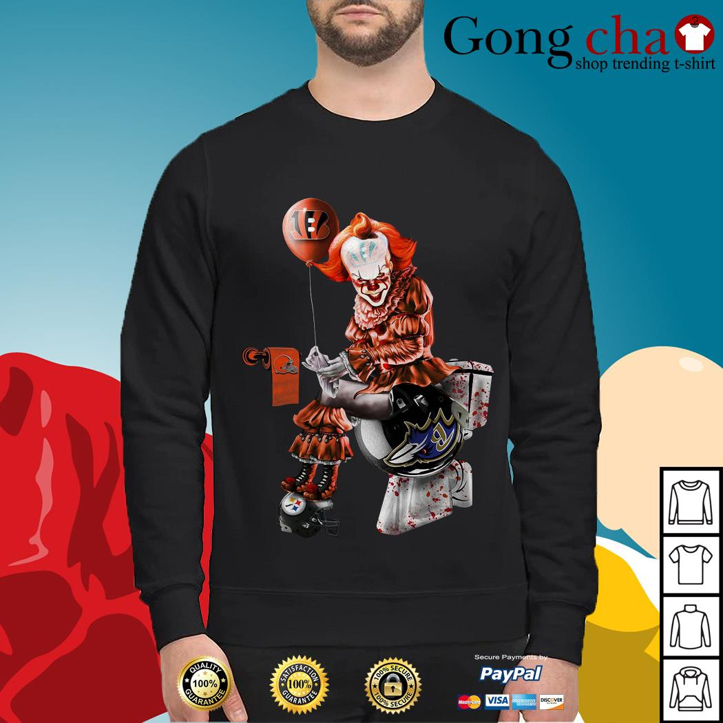 Pennywise Cincinnati Bengals Cleveland Browns Baltimore Ravens Pittsburgh Steelers Sweater