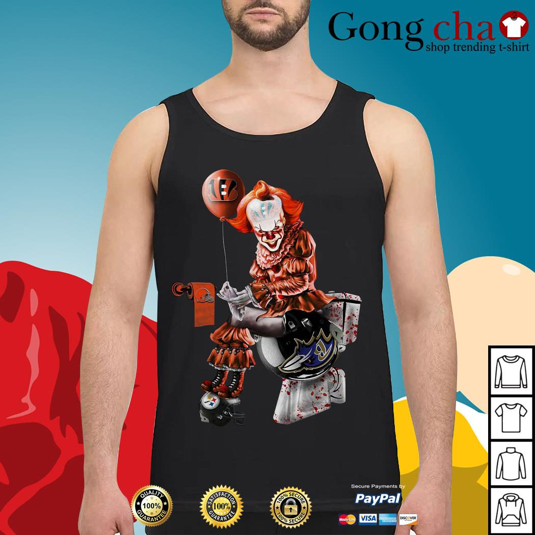 Pennywise Cincinnati Bengals Cleveland Browns Baltimore Ravens Pittsburgh Steelers Tank top
