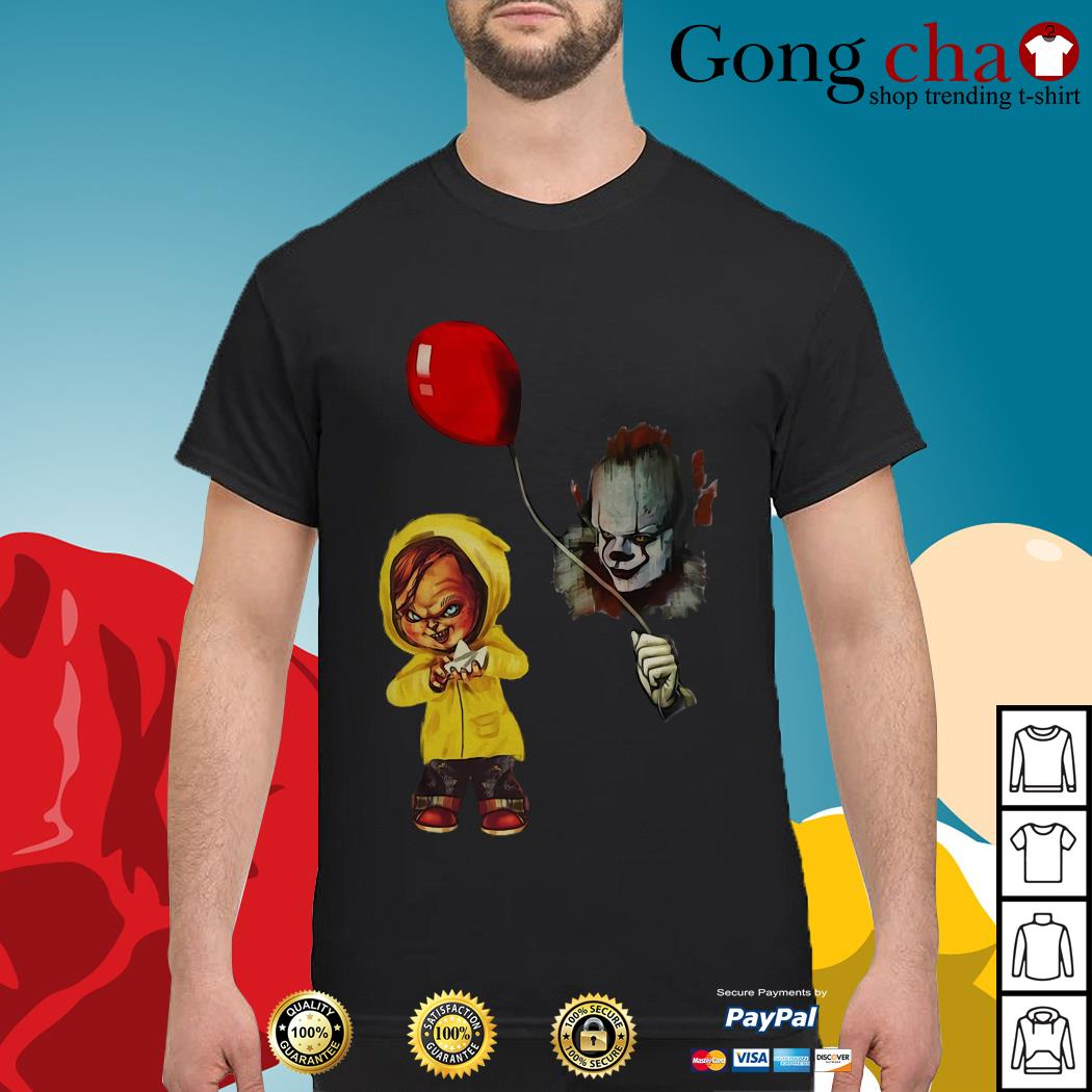 IT Pennywise Georgie Chucky Stephen King shirt