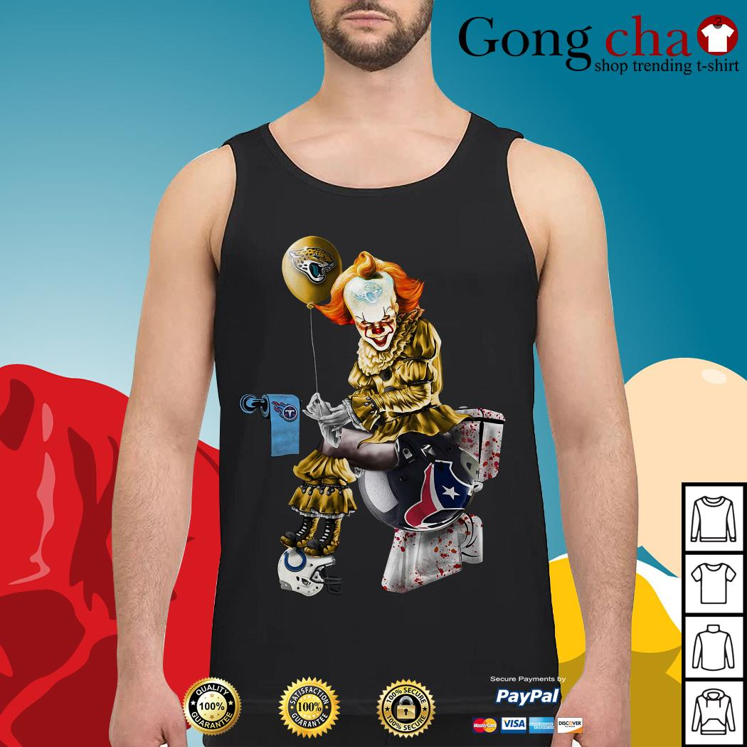 Pennywise Jacksonville Jaguars Tennessee Titans Houston Texans Indianapolis Colts Tank top