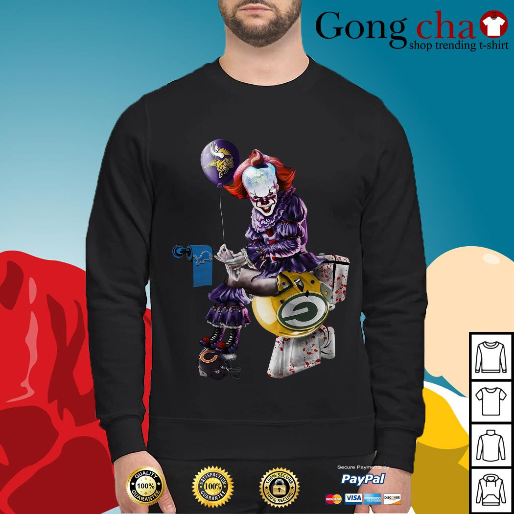 Pennywise Minnesota Vikings Detroit Lions Green Bay Packers Chicago Bears Sweater