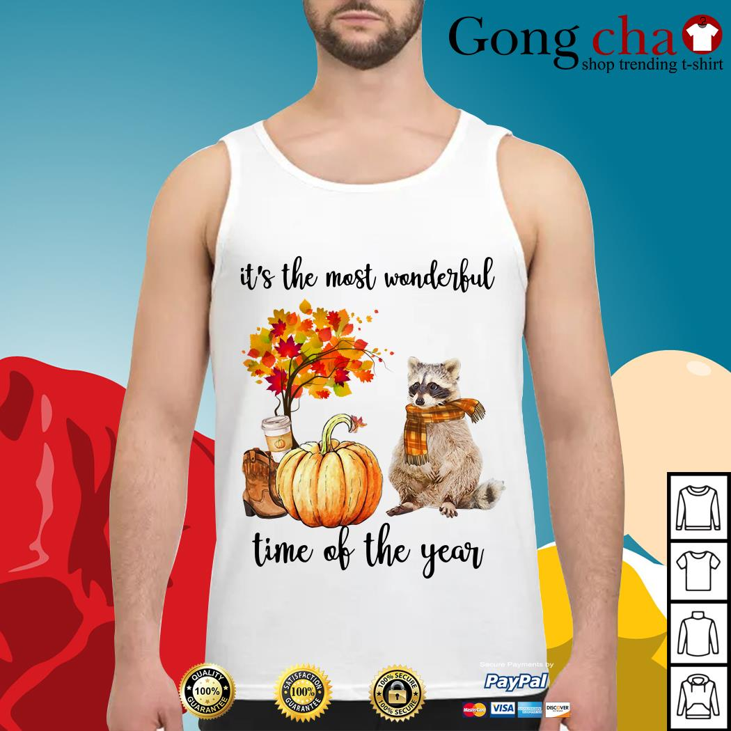 Raccoon it's the most wonderful time of the year Tank top