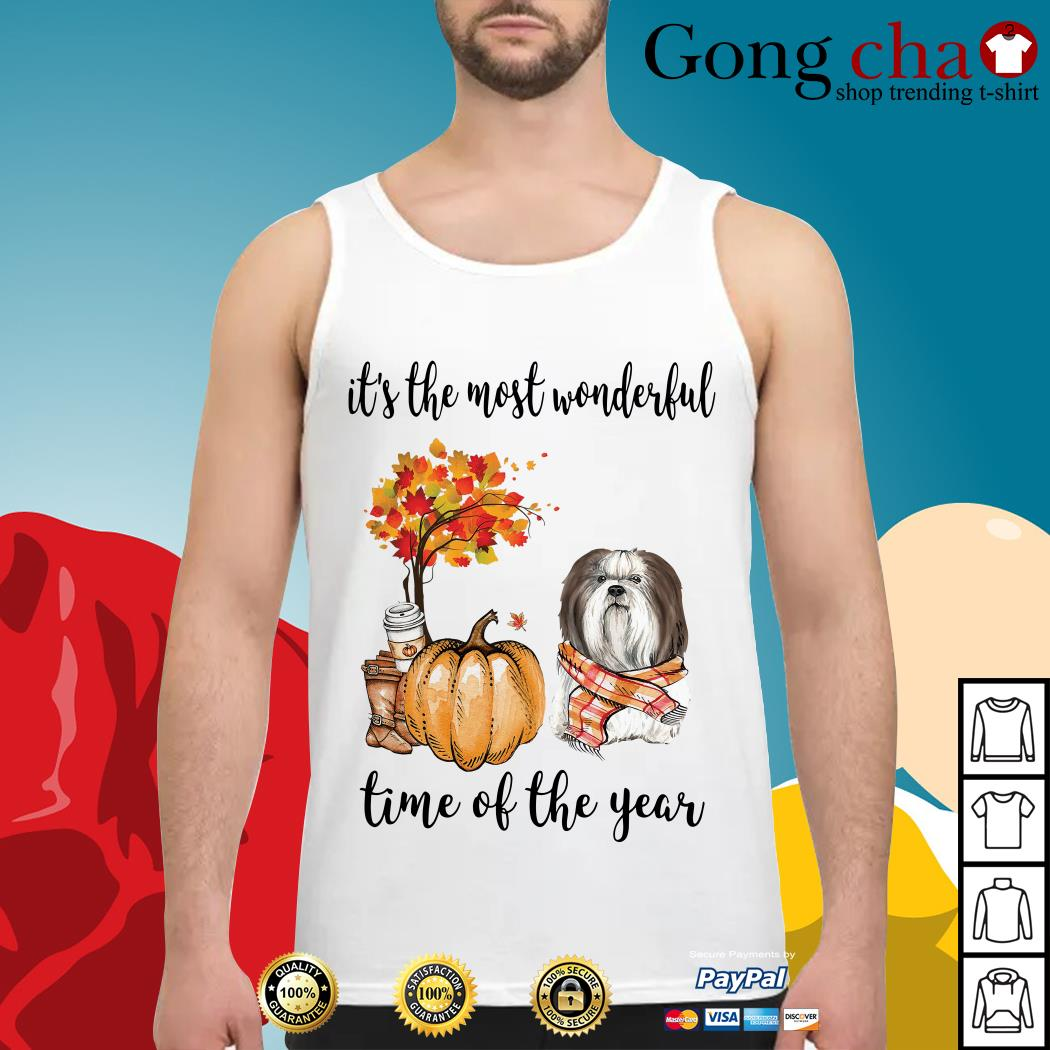 Shih Tzu it's the most wonderful time of the year Tank top