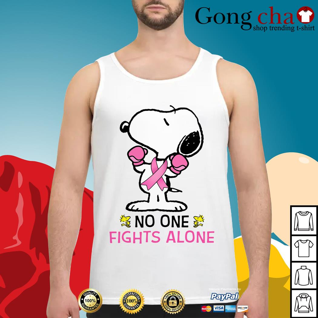 Snoopy no one fights alone Tank top