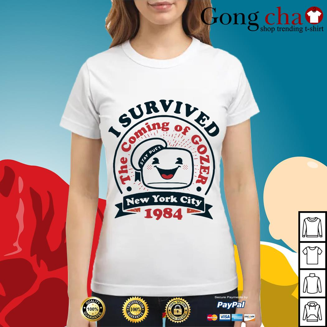 I survived the coming of Gozer New York city 1984 Ladies tee