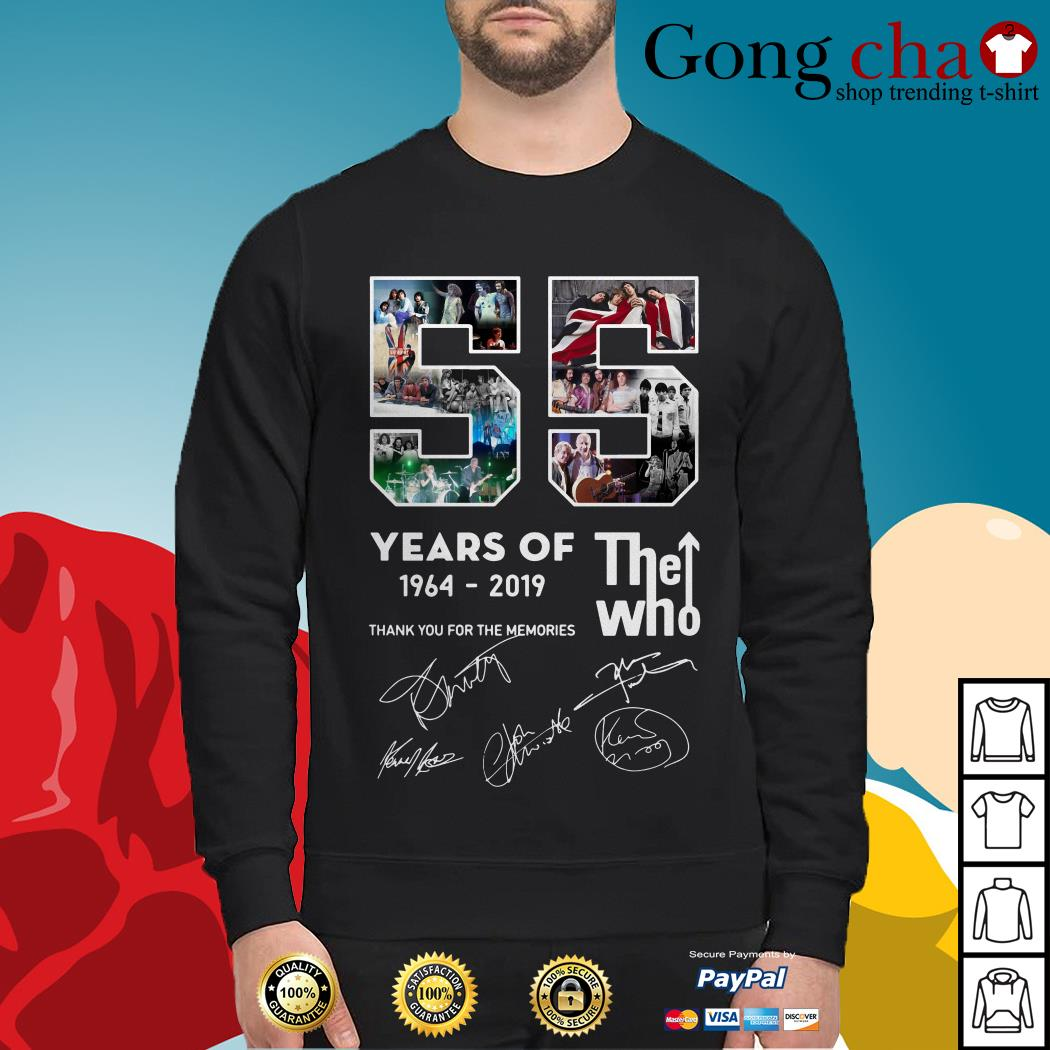 55 years of The Who 1964-2019 thank you for the memories Sweater
