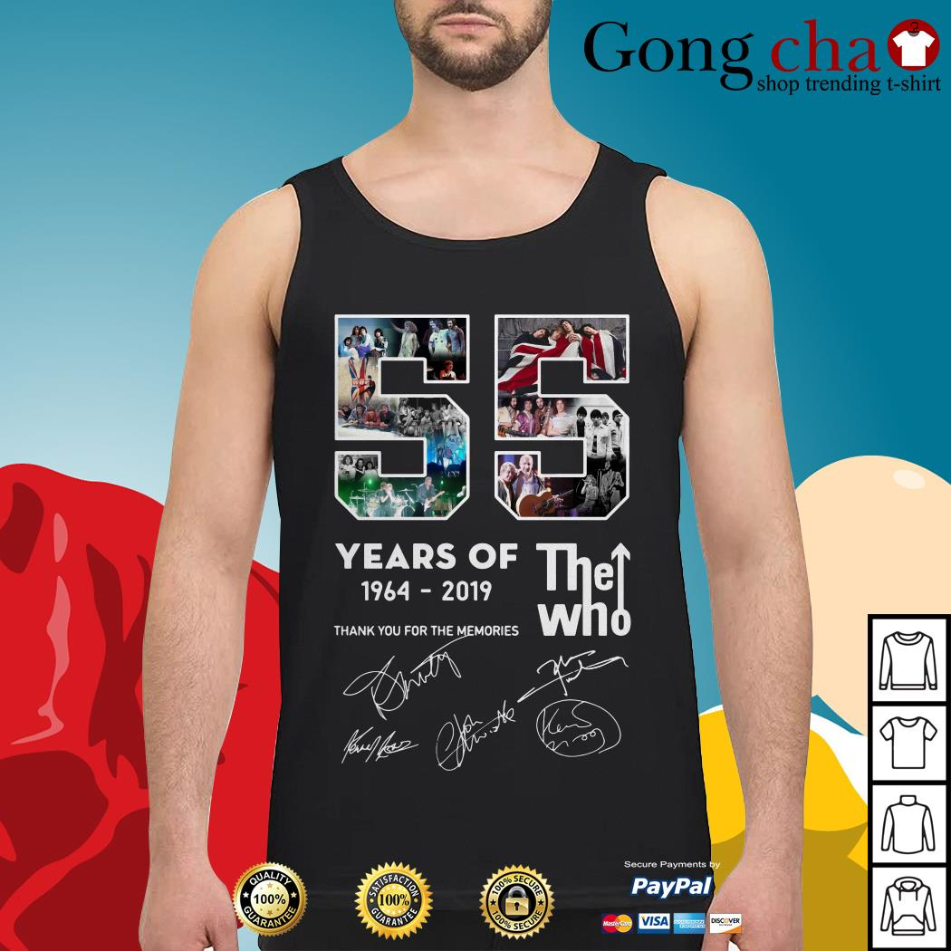 55 years of The Who 1964-2019 thank you for the memories Tank top