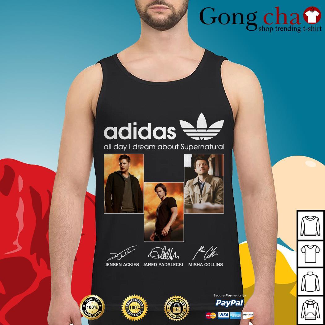 Adidas all day I dream about Supernatural signatures Tank top