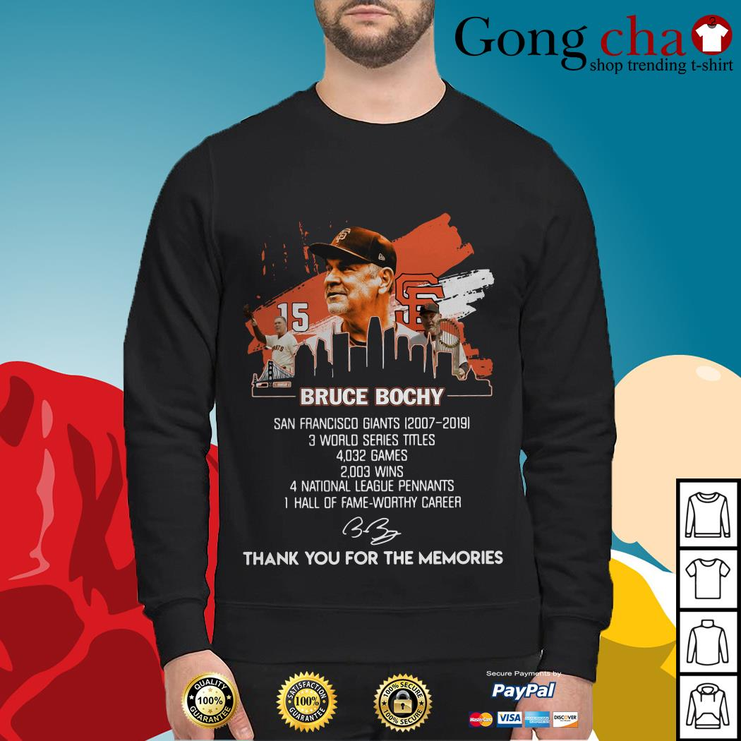 Bruce Bochy San Francisco Giants thank you for the memories Sweater