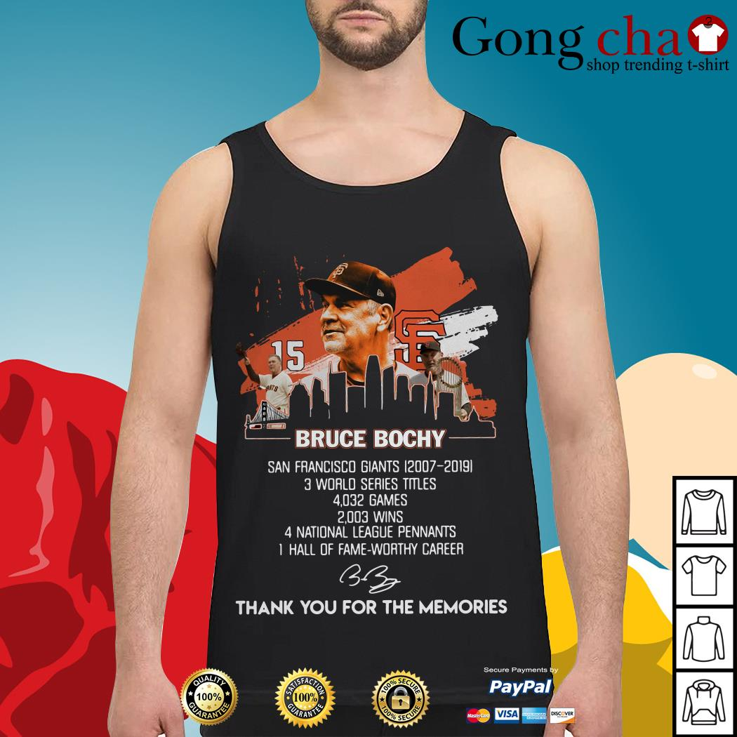 Bruce Bochy San Francisco Giants thank you for the memories Tank top