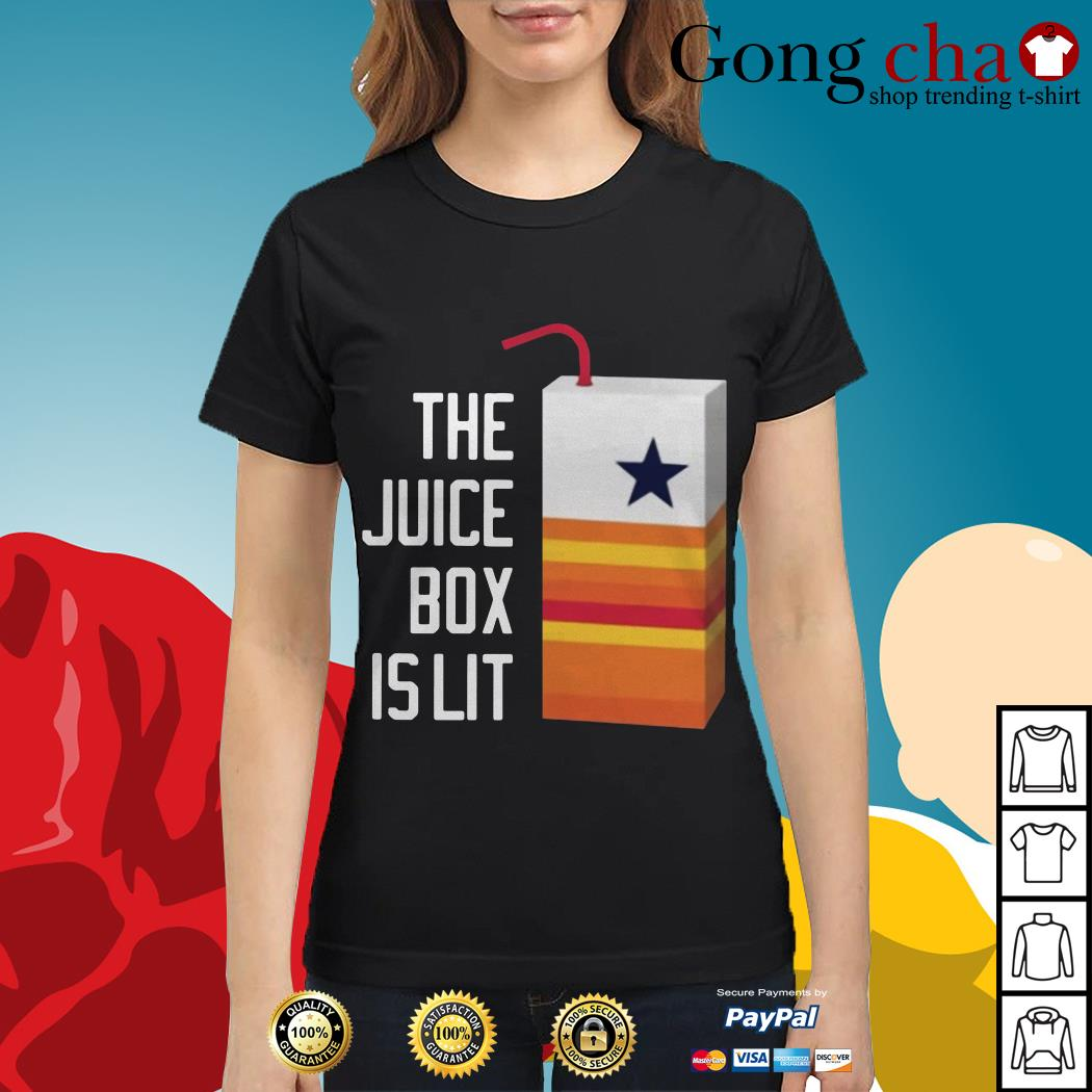 Dallas Cowboy the juice box is lit Ladies tee