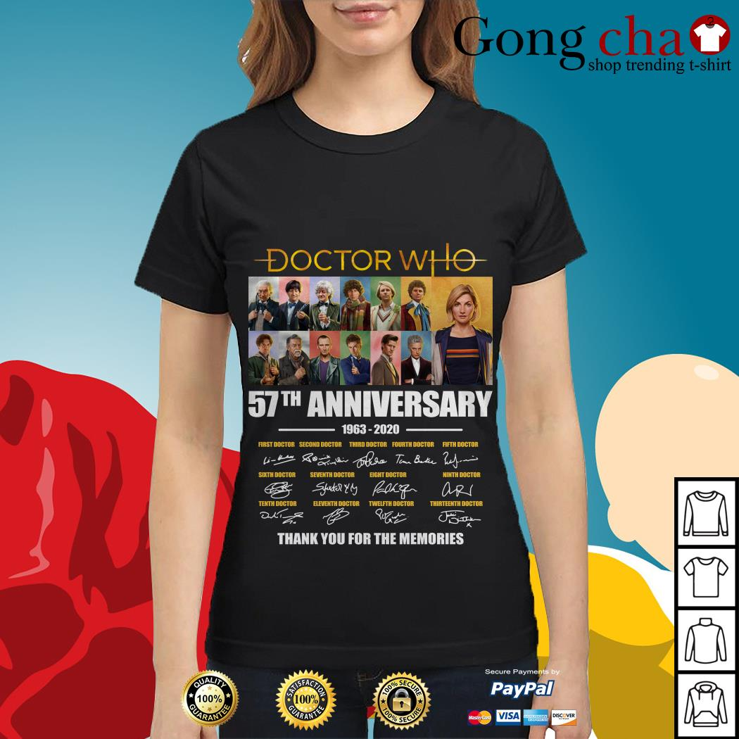 Doctor Who 57th anniversary thank you for the memories Ladies tee