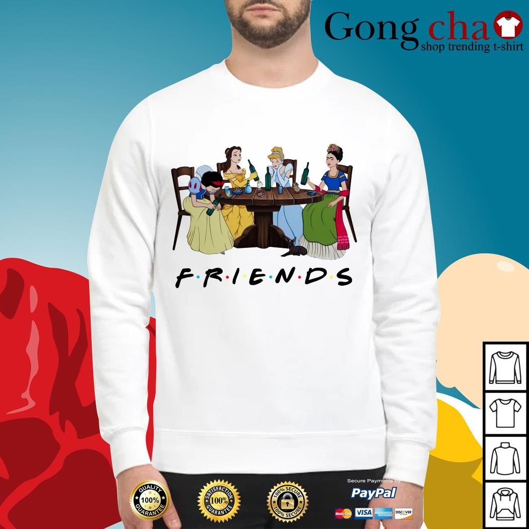 Frida Kahlo and Disney princesses drinking Friends TV show Sweater