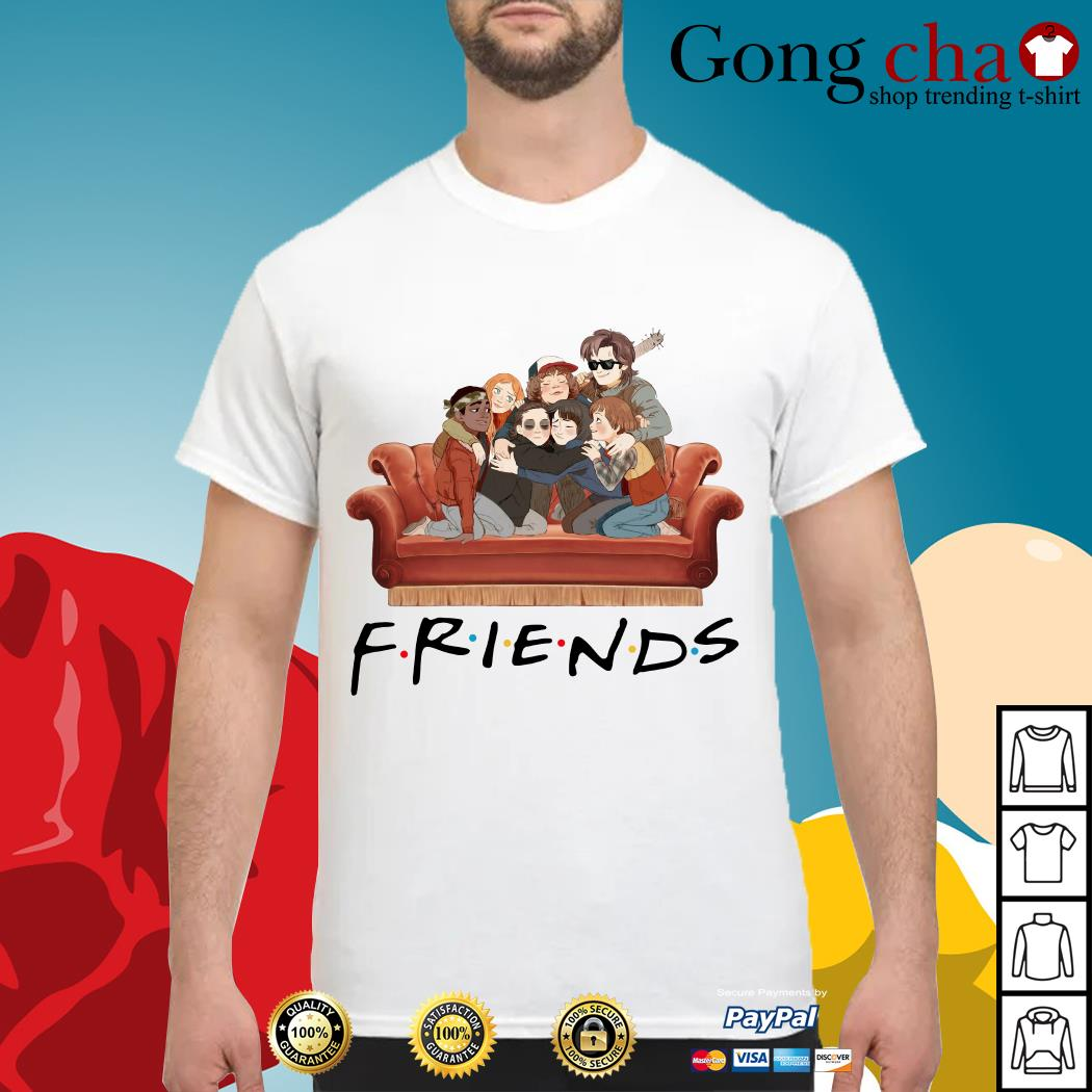 Friends Stranger Things Characters TV show shirt