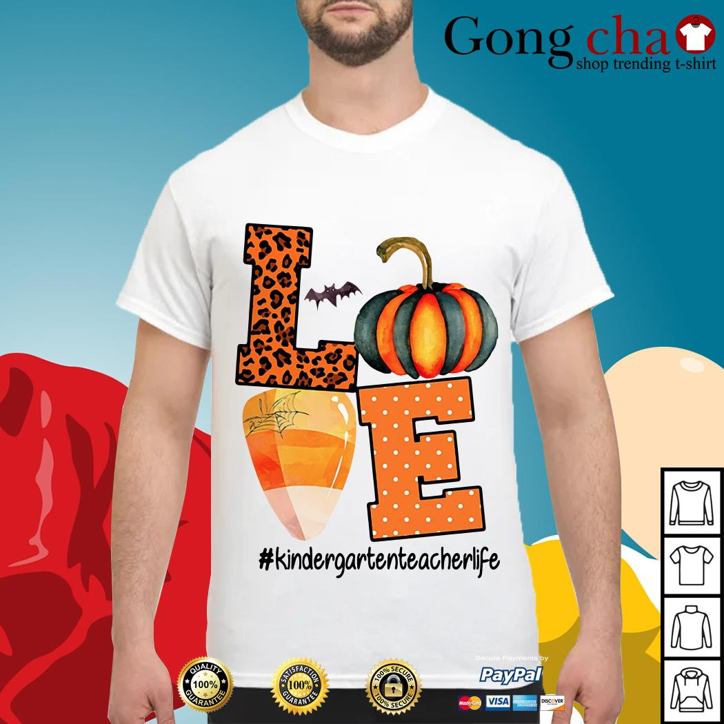 Halloween love kindergartenteacherlife shirt