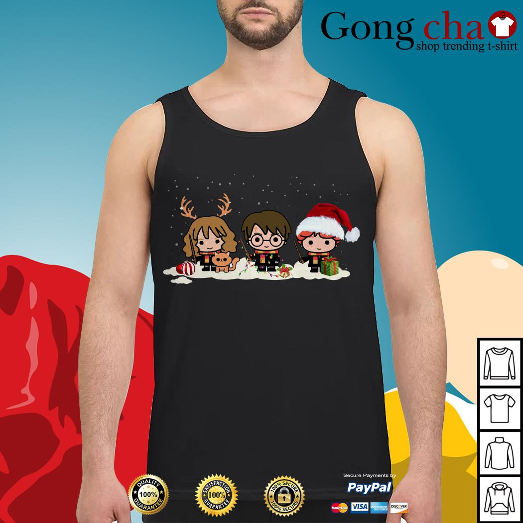 Harry Potter chibi characters Christmas Tank top