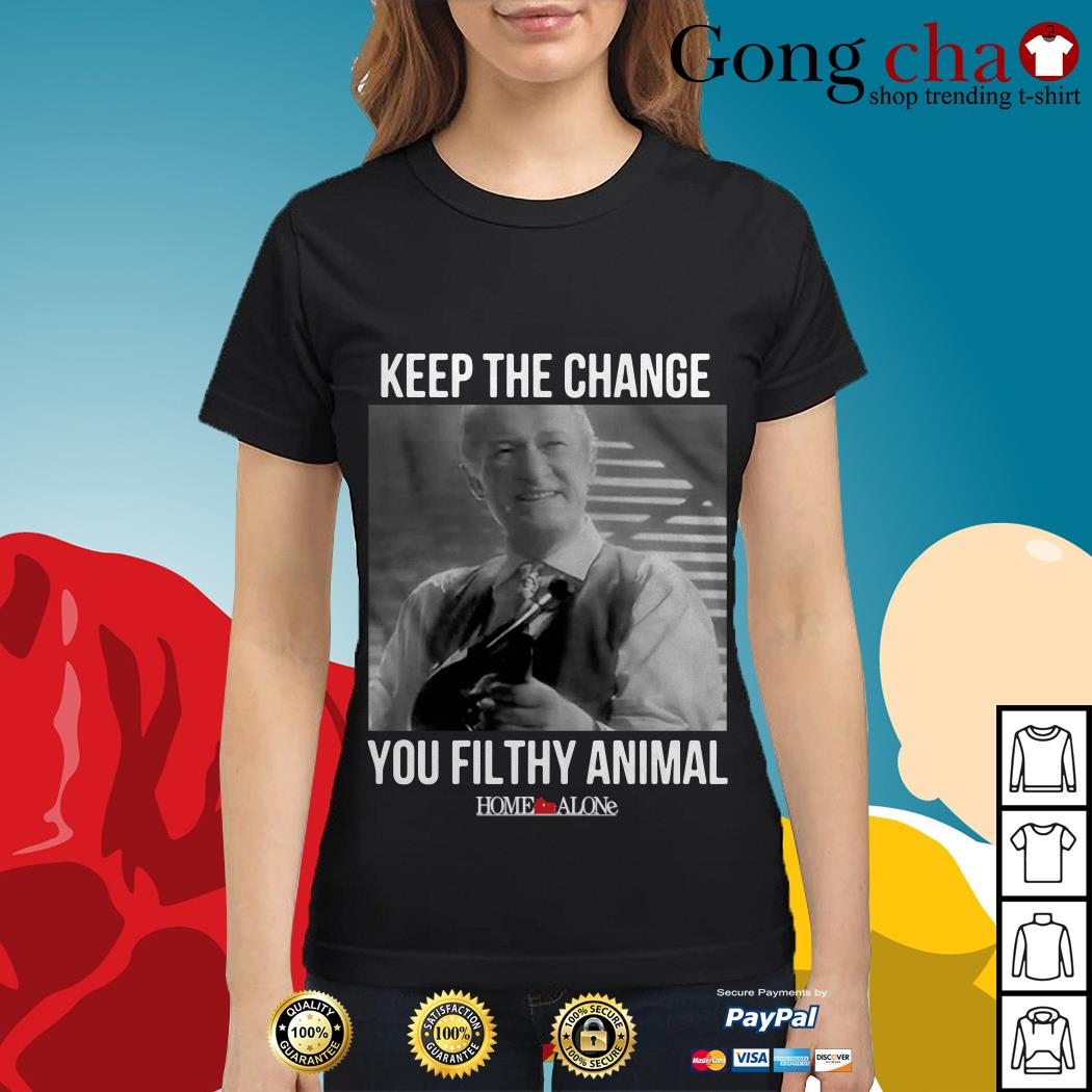 Home Alone keep the change you filthy animal Ladies tee