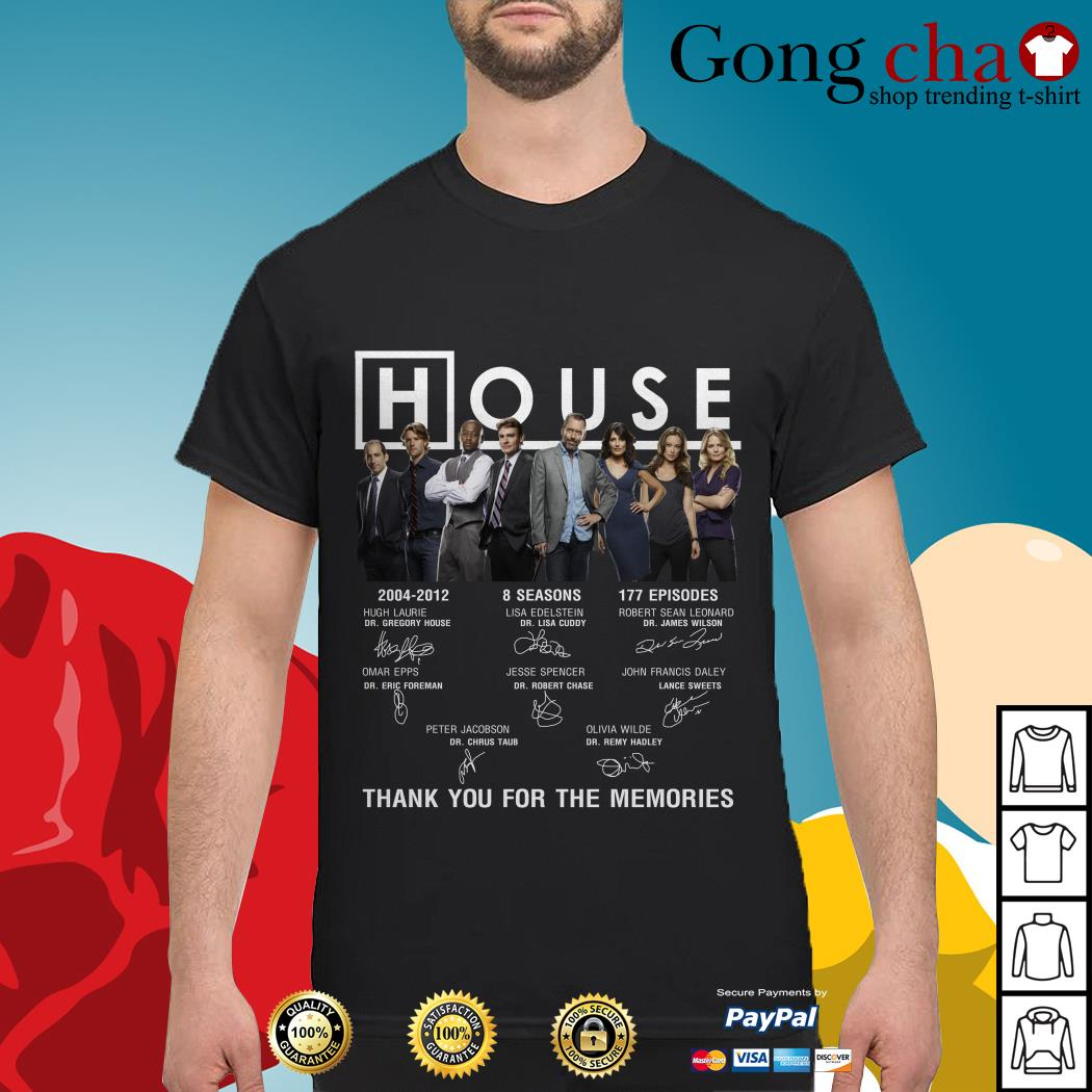 House 2004-2012 thank you for the memories signature shirt