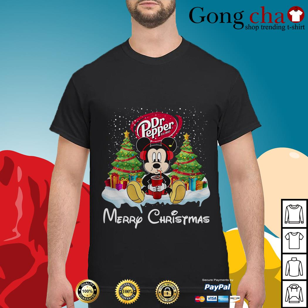 Mickey Mouse drink Dr Pepper Merry Christmas shirt, sweater