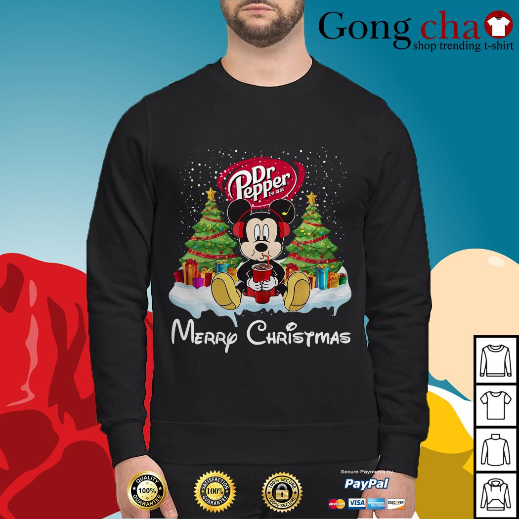 Mickey Mouse drink Dr Pepper Merry Christmas Sweater