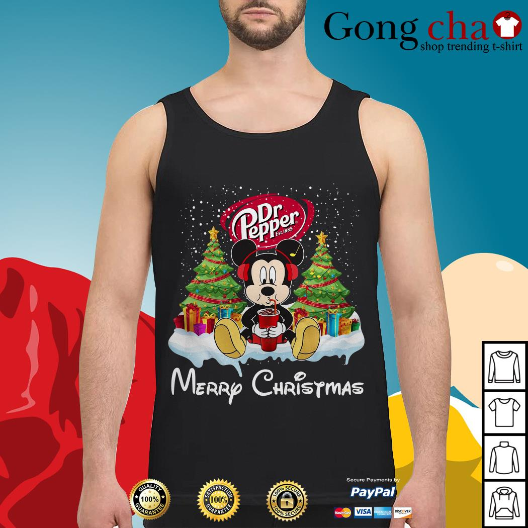 Mickey Mouse drink Dr Pepper Merry Christmas Tank top