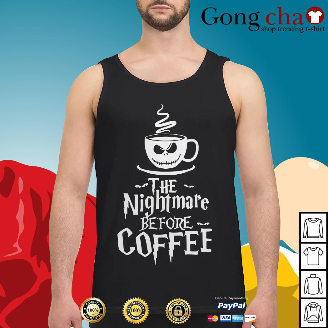 The nightmare before coffee Tank top