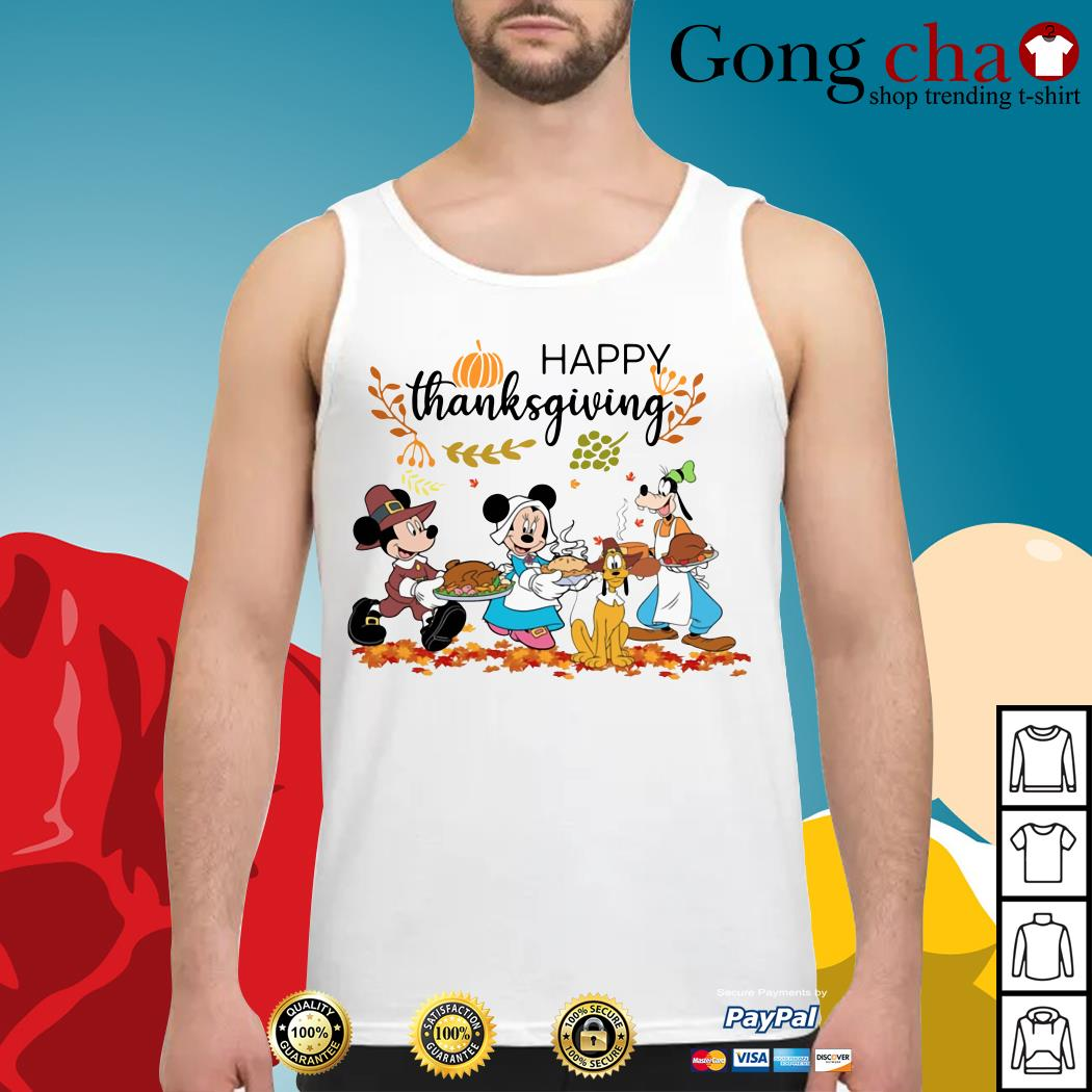 Official Disney happy thanksgiving Tank top