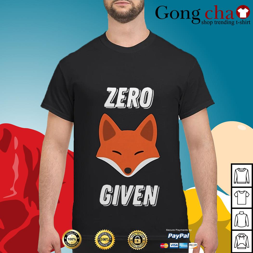 Official Zero fox given shirt