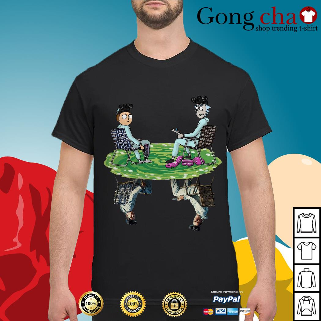 Rick and Morty water reflection mirror Breaking Bad shirt