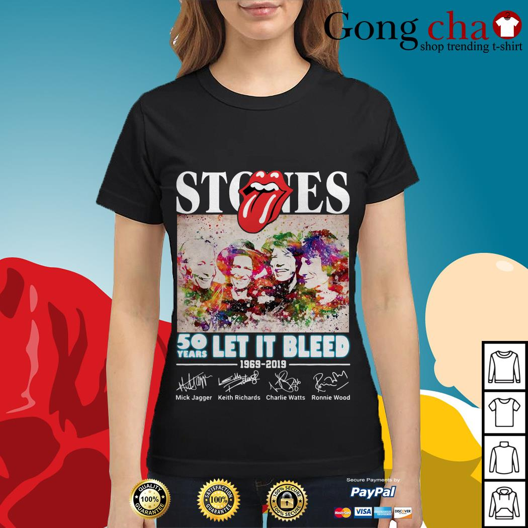 The Rolling Stones 50 years let it bleed 1969-2019 signature Ladies tee