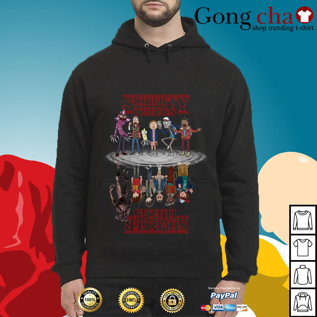Schwifty things water reflection mirror Stranger things Hoodie