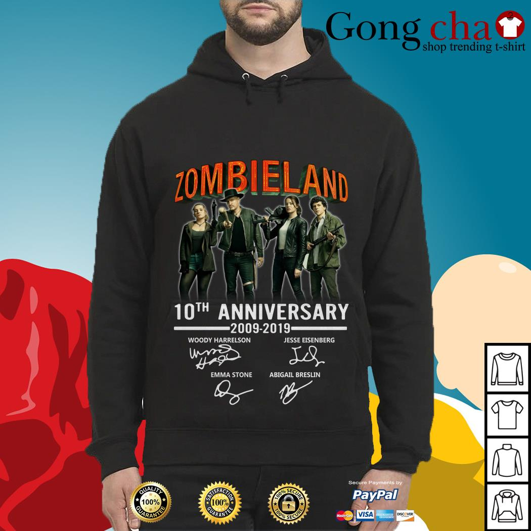 Zombieland 10th anniversary 2009-2019 signatures Hoodie