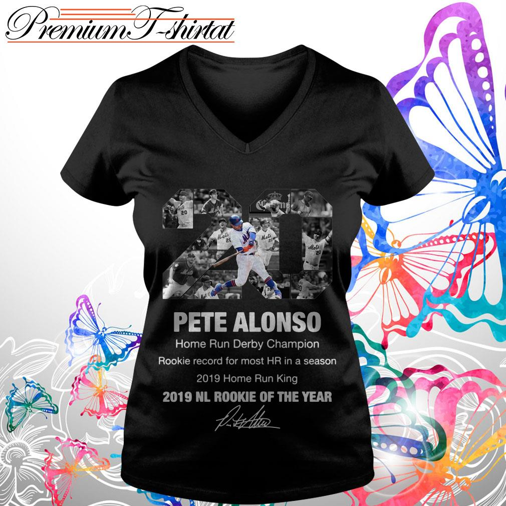 20 Pete Alonso 2019 NL Rookie of the year signature shirt