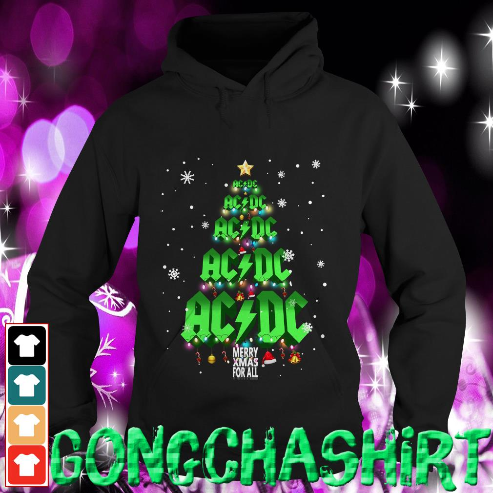 ACDC Merry Xmas for all Christmas tree Hoodie