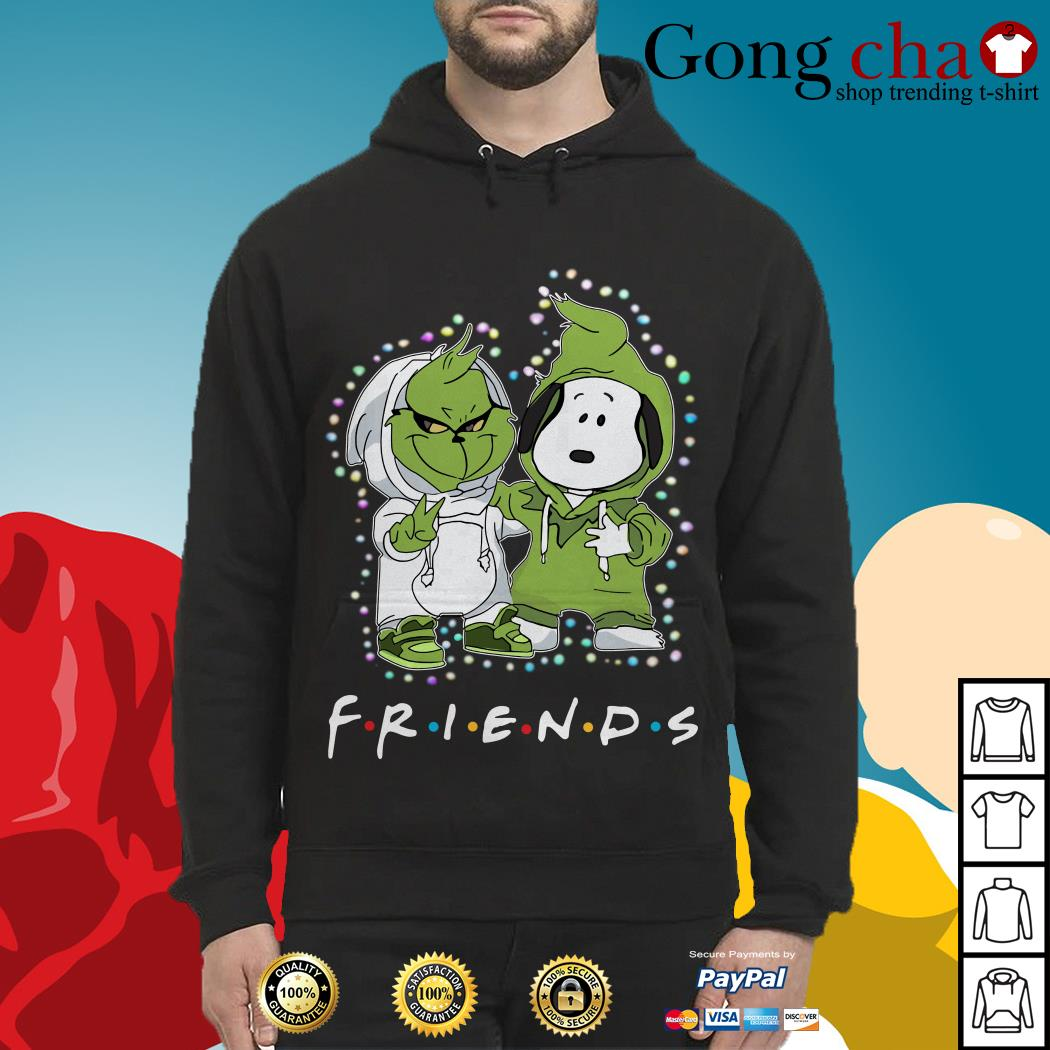 Baby Grinch and Snoopy Friends Christmas light Hoodie