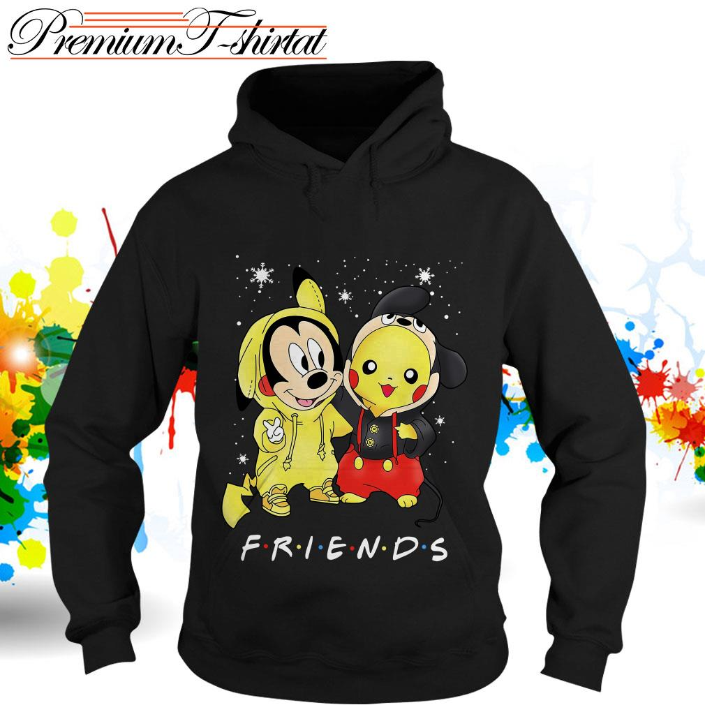 Baby Mickey Mouse and Pikachu Friends Christmas shirt and hoodie