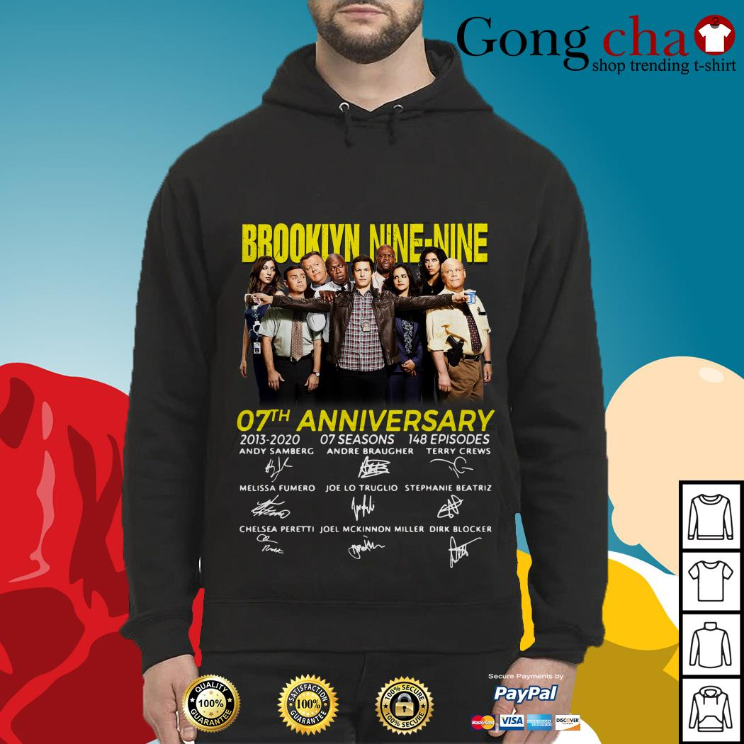 Brooklyn Nine-Nine 07th Anniversary signatures Hoodie