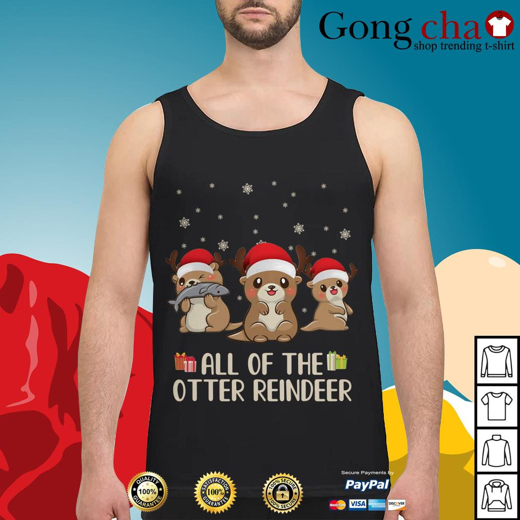 Christmas all of the otter reindeer Tank top