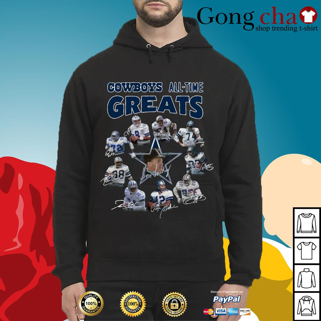 Dallas Cowboys all-time greats signatures Hoodie