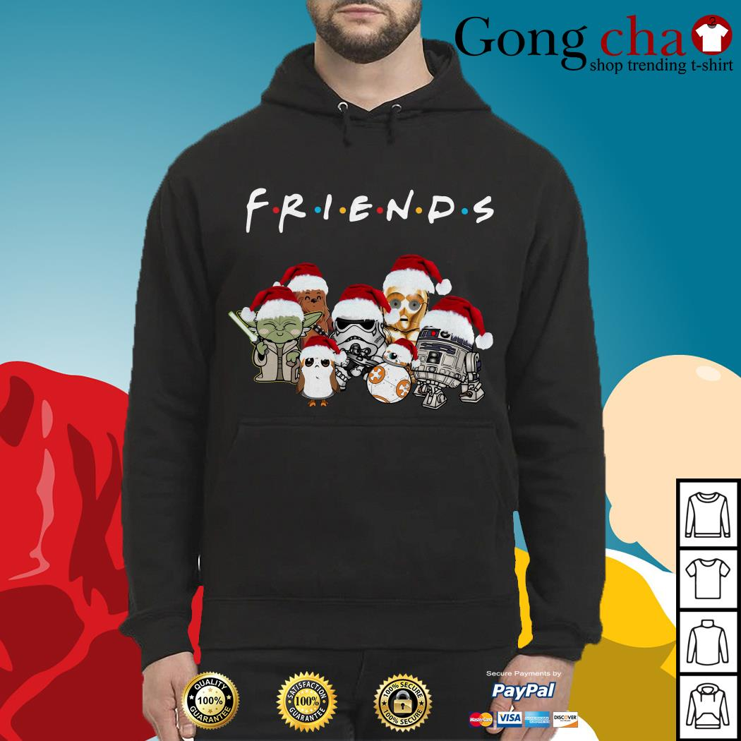 Friends Star Wars chibi characters Christmas Hoodie