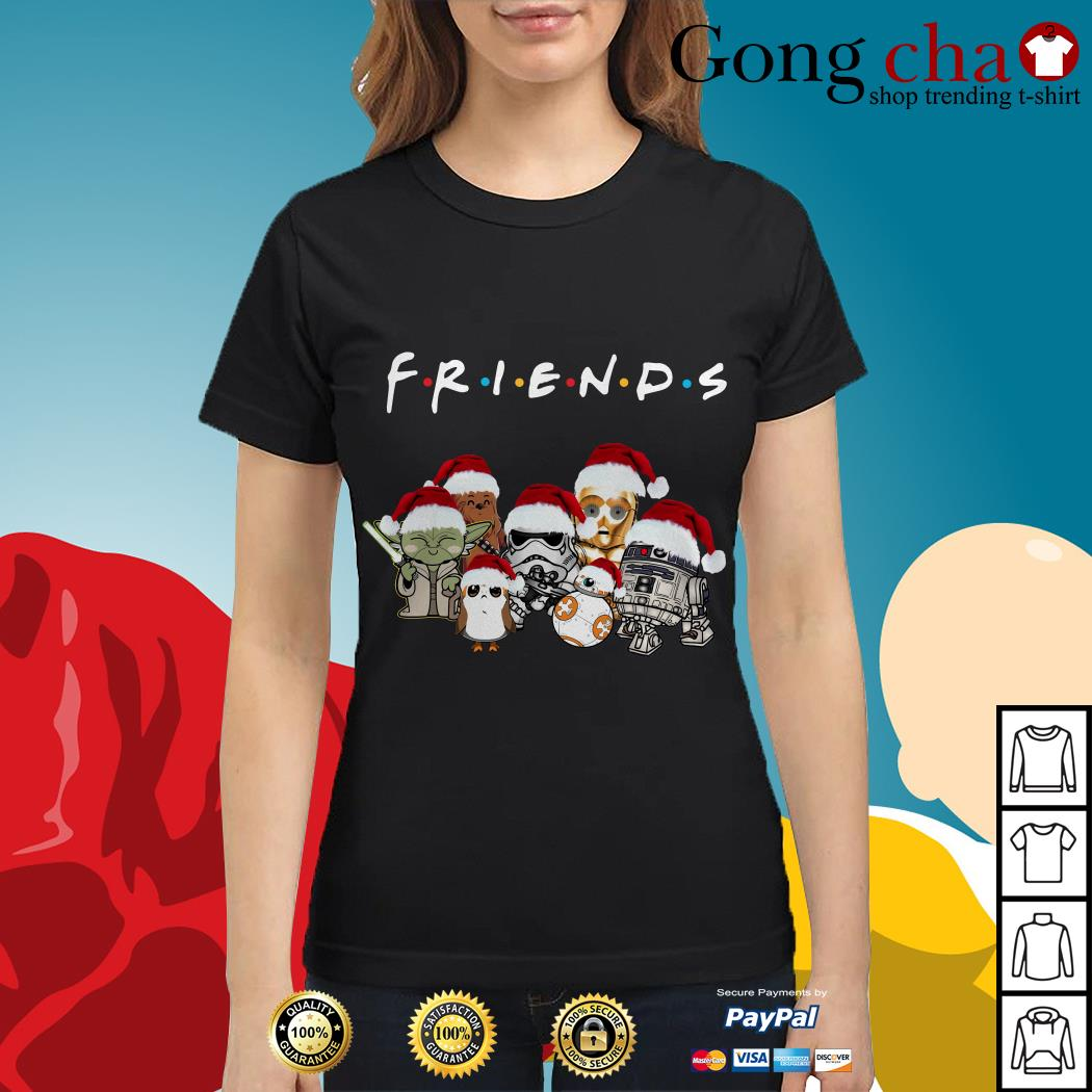 Friends Star Wars chibi characters Christmas Ladies tee