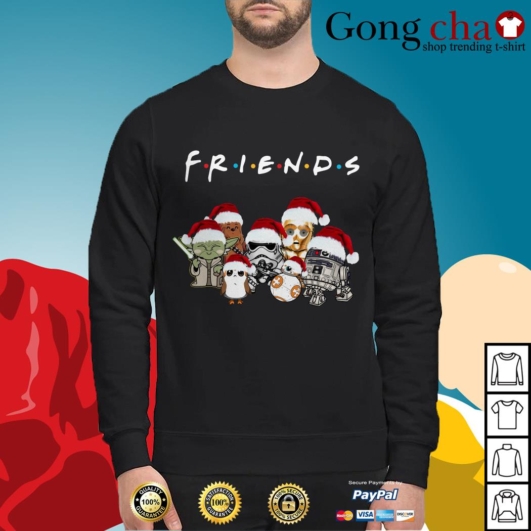 Friends Star Wars chibi characters Christmas Sweater