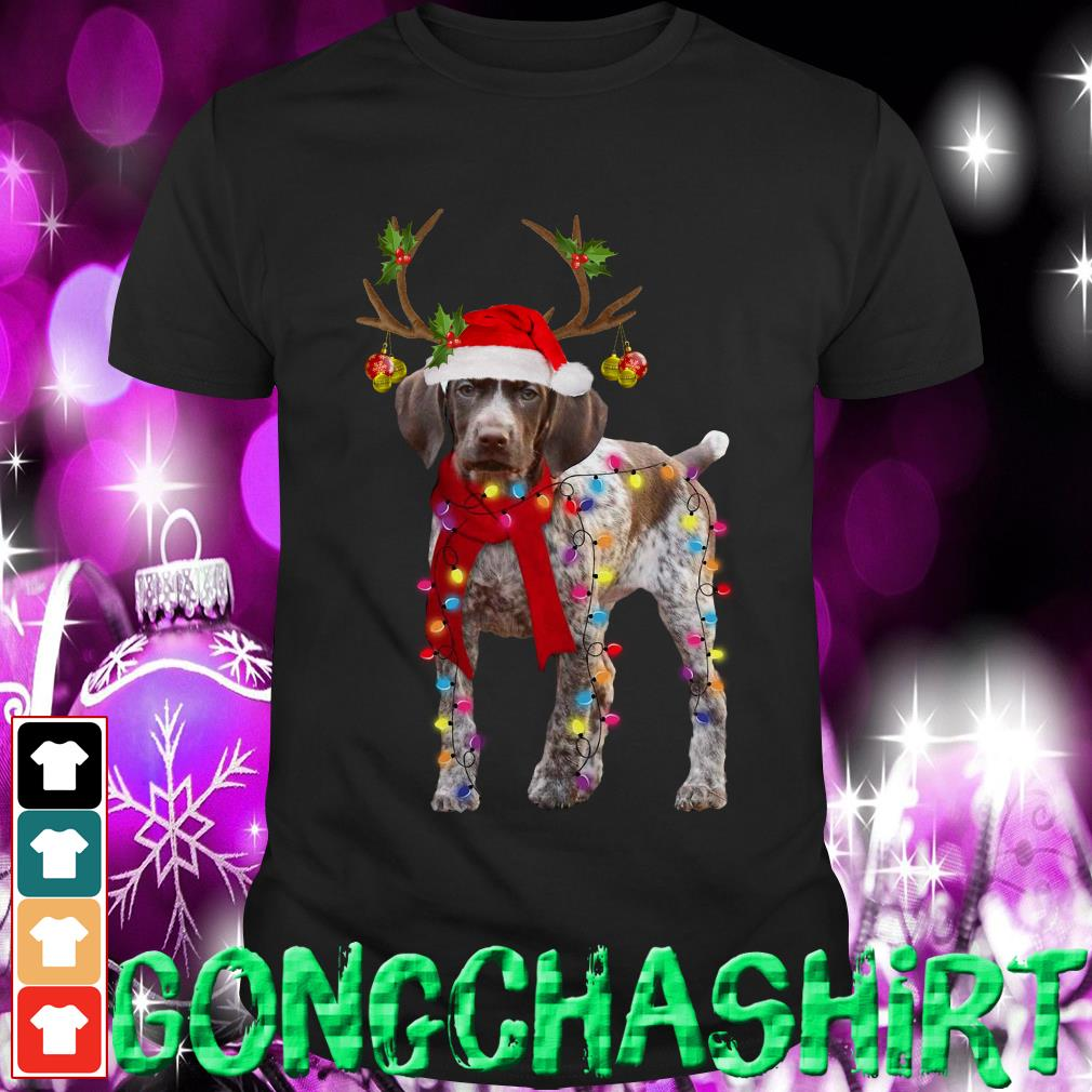 German Shorthaired Pointer gorgeous reindeer Christmas shirt, sweater