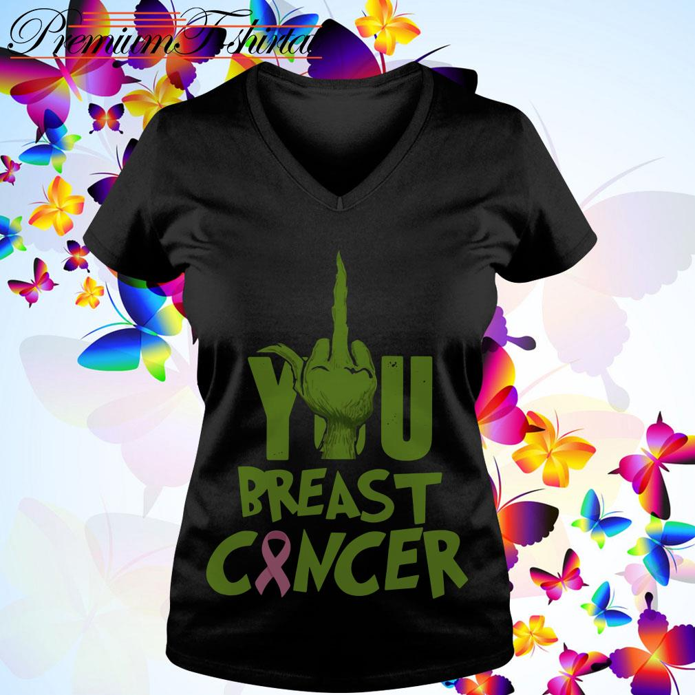 The Grinch fuck you Breast Cancer shirt, sweater and hoodie
