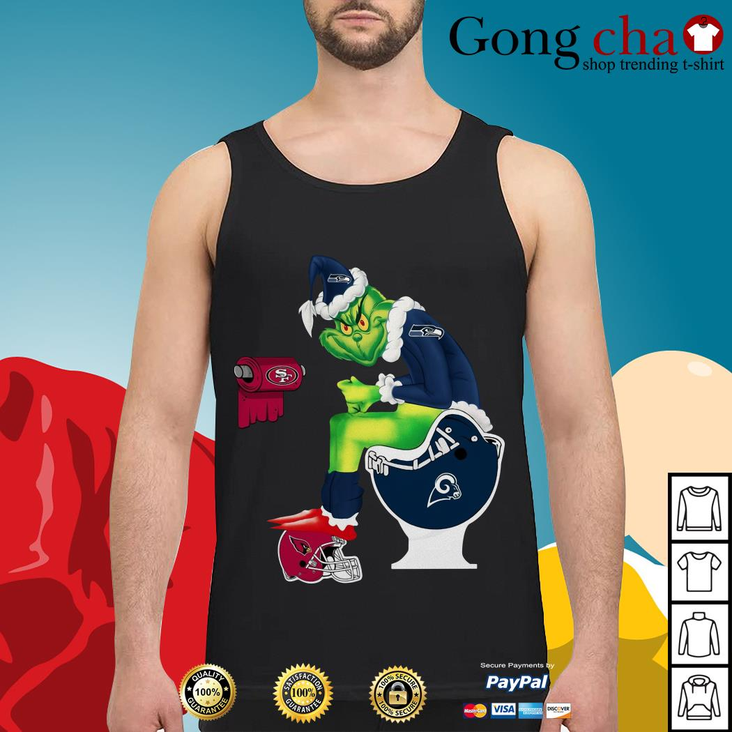 Grinch Seattle Seahawks San Francisco 49ers Los Angeles Rams Arizona Cardinals Tank top