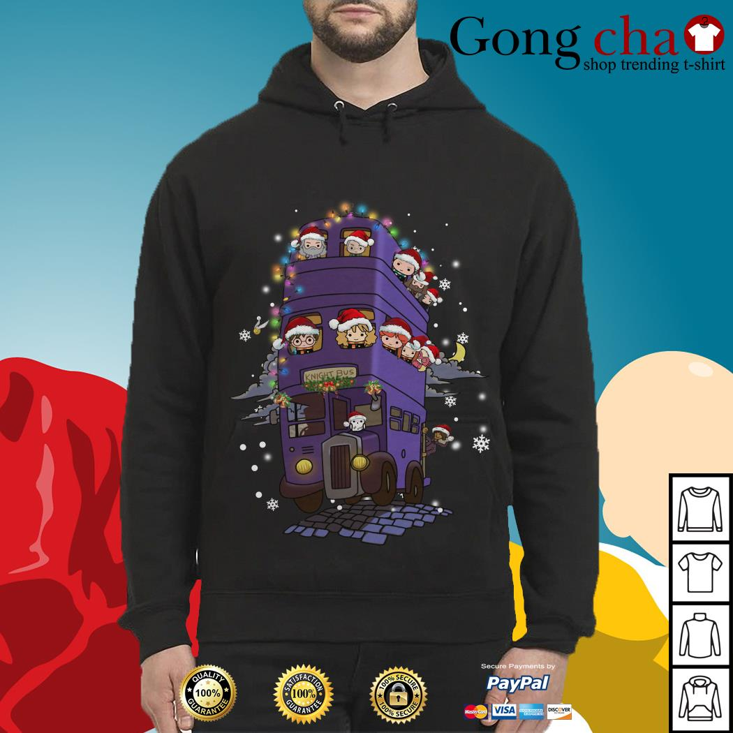 Harry Potter knight bus Christmas Hoodie