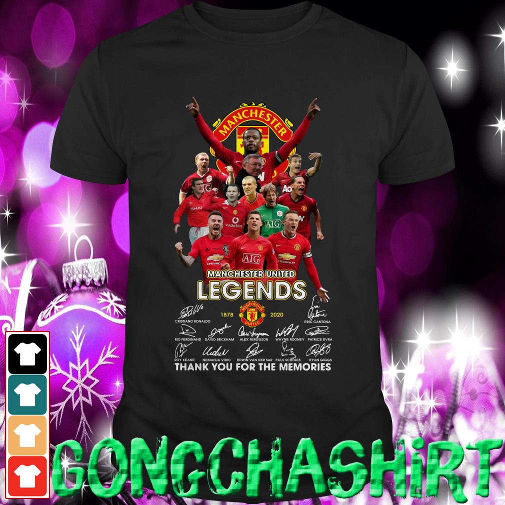 Manchester United Legends thank you for the memories shirt