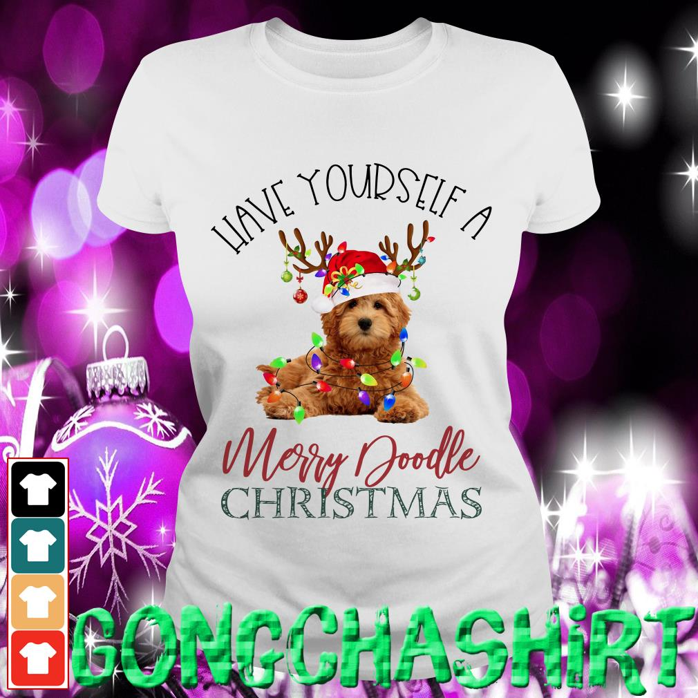 Have yourself a Merry Doodle Christmas Ladies tee